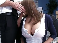 Big-titted stunner Madison Fox plays the flute and sucks big dick of her teacher