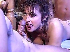 Victoria Paris in 80's porn orgy