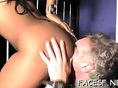 White stud idolizes a luxurious black ass and gets sucked
