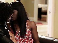Ebony milf instructs teen
