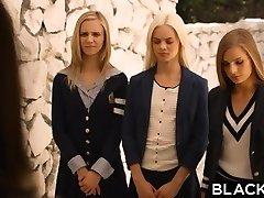 BLACKED Preppy Lady Threesome Get Three BBCs