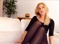 women in Black Opaque tights D10