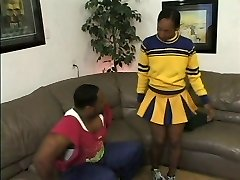 Ugly ebony bitch blows black manstick and gets pounded in her dirty honeypot