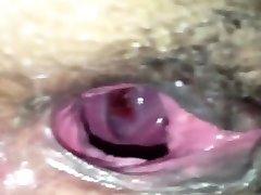 Wide Open Black Pussy - Amateur Closeup