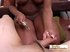 Superior Black Girl Torturing A Guys Man-meat