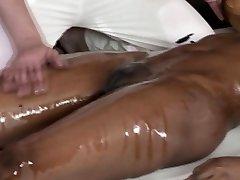 Fancy ebony massage babe fingered