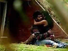 Indian Couple Hooter Press &amp_ Fuck In Park