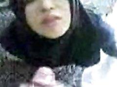 Arabic Hijab Blowjob Cum Gulp Outdoor