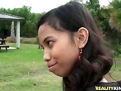Cute Indian girl Amanda Putri picked up in the street got cash for fuckfest