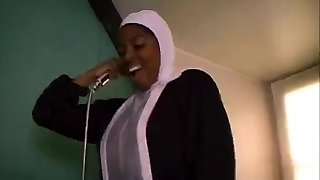 African French nun sucking and ravaging monstrous black cocks