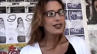 Brunette Milf with reading glasses penetrated hard