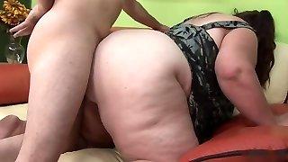 BBW slut and horny midget doll share studs hard dick