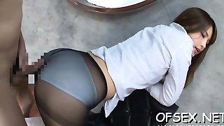 Hawt playgirl enjoys office sex