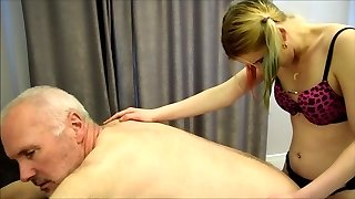 Pervert Ulf Larsen torn up by Angel