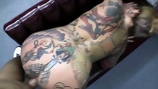 Tatted MILF whore gets fucked