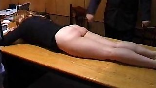 Naughty Secretary is Punished with a Tying