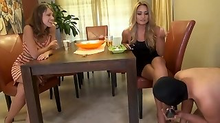 2 mistresses using there chasted slave