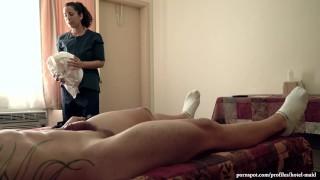 Spy cam captures Latina housekeeper giving me a fellatio