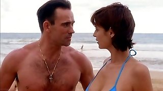 Catherine Bell JAG S05 E15 Blue Swimsuit