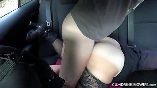 Slutwife humped by strangers in her van
