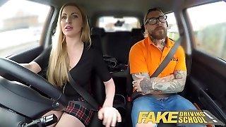 Fake Driving School Fake instructors hot shag with minx