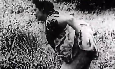 Hard Lovemaking in Green Meadow (1930s Vintage)