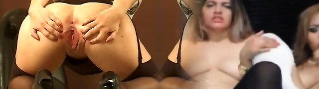 Hot brown-haired stands over the camera and demonstrates her tight pussy