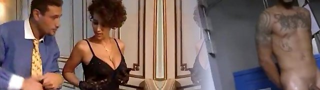 Glamorous French honey milks a thick cock!