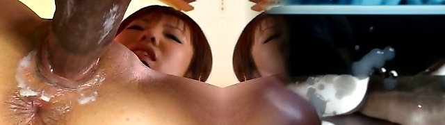 Japanese girl likes to guzzle milk