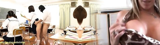 Jav Idol Schoolgirls Romped By Masked Fellow In There Classroom
