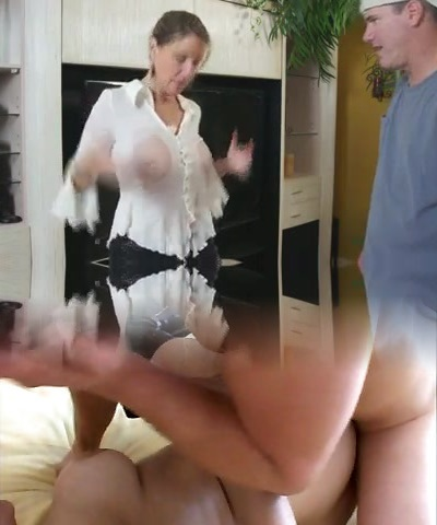 Busty Mom Shows Him Her Yam-sized Tits And Tight Pussy