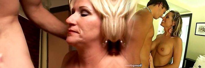 Kinky mature babe Molly gives a sloppy rimjob
