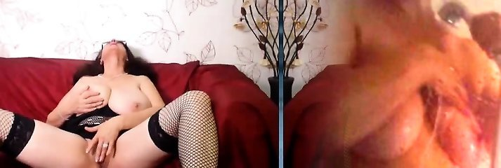 Granny With Massive Milk Cans On Webcam