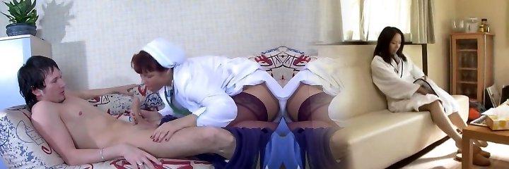 Mature nurse seducing boy