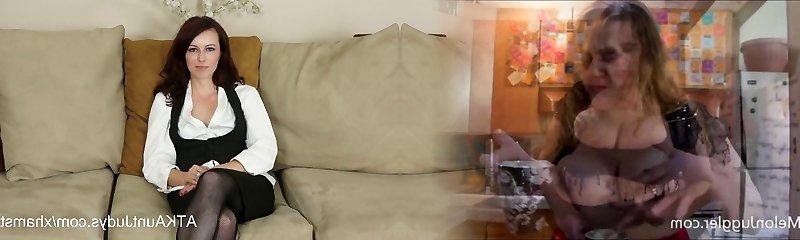 Violet interviews and milks for AuntJudys.com