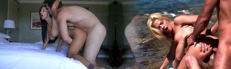 Lecherous brunette mommy Ava Addams humped in guest room by Manuel Ferrara
