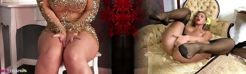 Chubby blonde mom Nikki Lee unveils her nice ass