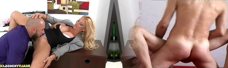 Busty blonde cougar Charity McLain gets tongued by Jmac