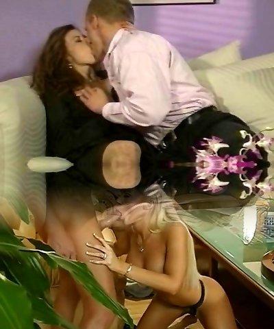 Romantic couple banging hard at home