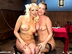 In this sexy roleplay update Lorelei Lee plays a lounge singer who teaches a thieving waitress a lesson for stealing tips from her and the bartender! Lesbian BDSM with spanking, finger banging, pussy licking, strap-on fucking, butt plug, caning, humiliation and pussy torture are all included.