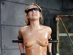 Carter Cruise is the perfect package. Blonde, tan and blessed with a banging body. The only way that toned all natural body could possibly look any better was if we oiled it down, bound her onto a sybian and throatboarded her into next week.