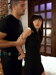 The stunningly beautiful Japanese girl Marica Hase gives us an amazing scene with rough sex and bondage!  In this fantasy role-play, Marica works in a massage parlor as a prostitute and gets busted by a renegade undercover cop.  He turns her into his sex slave and fucks her relentlessly in strick bondage.  A must see!