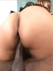 sexy MILF black teacher fucks a fat cocked student