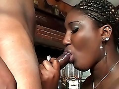 Ebony chick getting her wet twat drilled