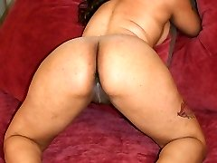Sexy ebony Candi Luv takes intensive hard cock cramming in her juicy looking black gash