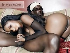 Hot babe Sydnee Capri gives xxl cock a yummy sucky-sucky and gets her perfect ebony caboose plumbed