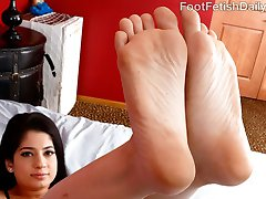 After a long day on vacation, exotic Nadia Ali wants her Pakistani feet rubbed. Her boy toy is more than happy to fuck her feet and get a footjob. She gets so turned on that she wants his cock deep in her young wet pussy. He blasts his load all over her feet, and she loves it.