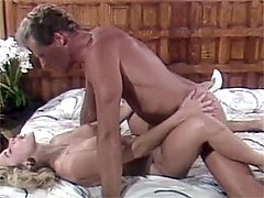 Eighties blonde loves cock