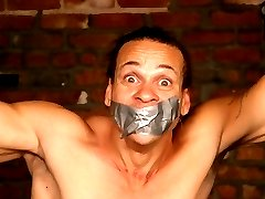 Chained stud gagged and punished by a female mistress