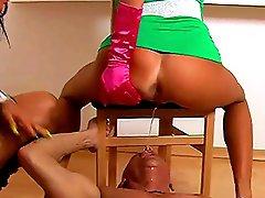 Wet pissing femdom with Viola Barbara